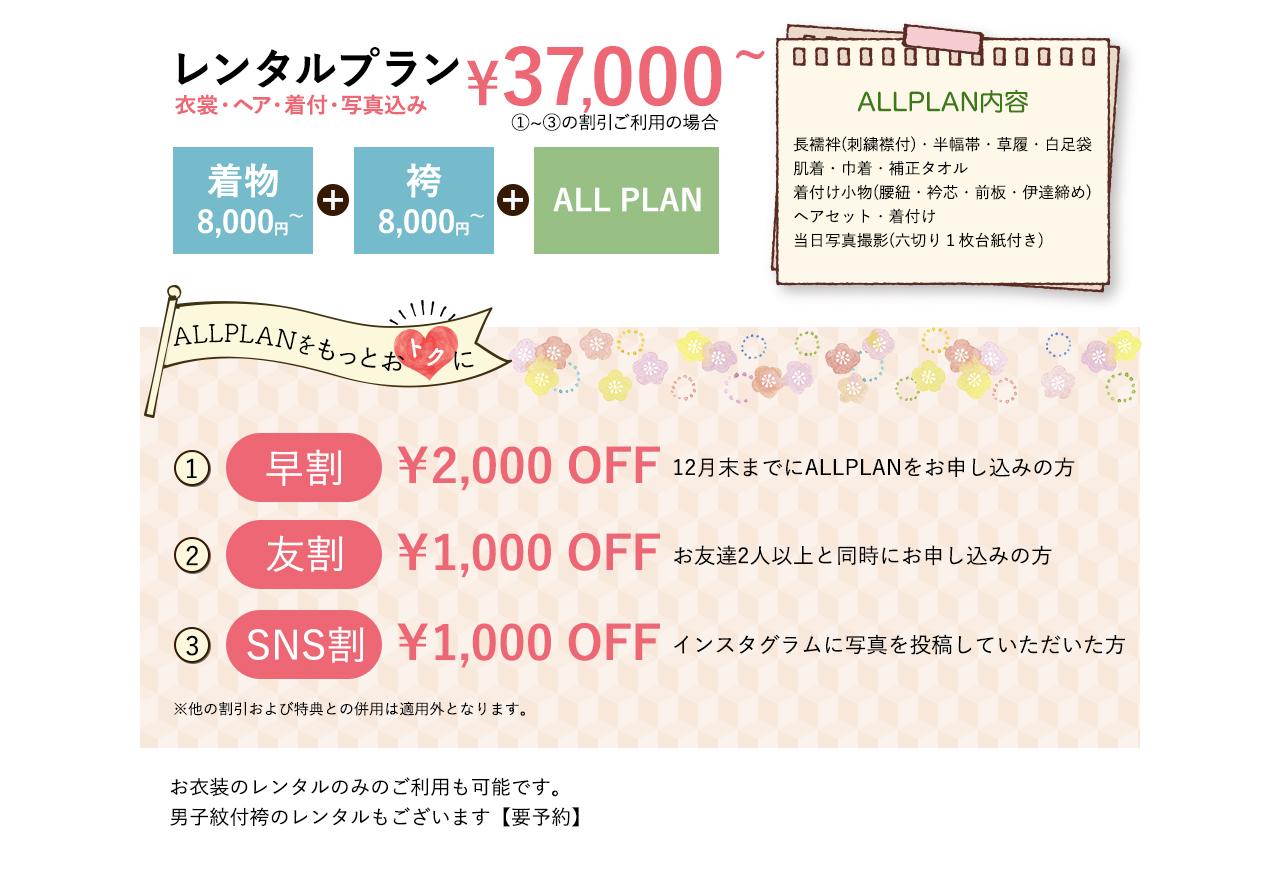 costumeRAN 袴のレンタルプランは37000円から